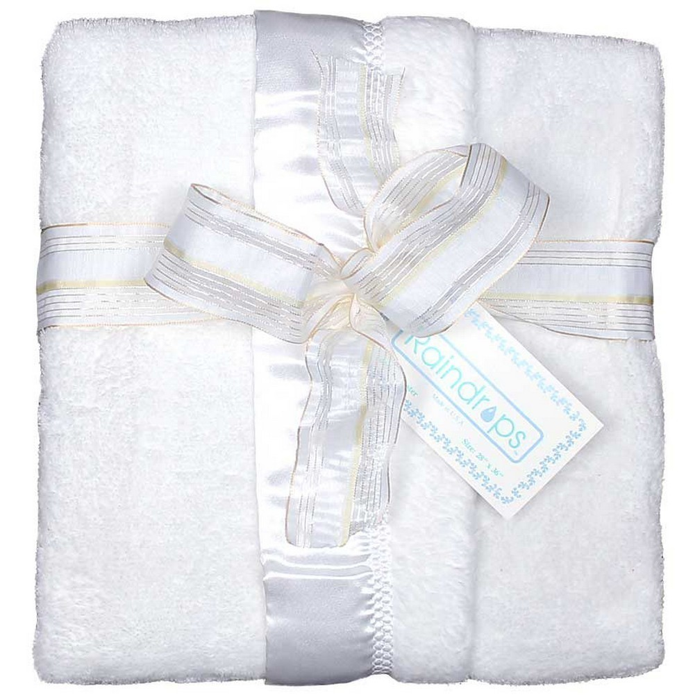 Dee Givens and CoRaindrops 1161 Raindrops 1161 Unisex White Flurr Receiving Blanket by Raindrops