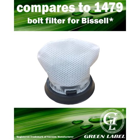 Filter Boost - For Bissell Bolt Vacuum Filter (compares to 1479). Genuine Green Label product