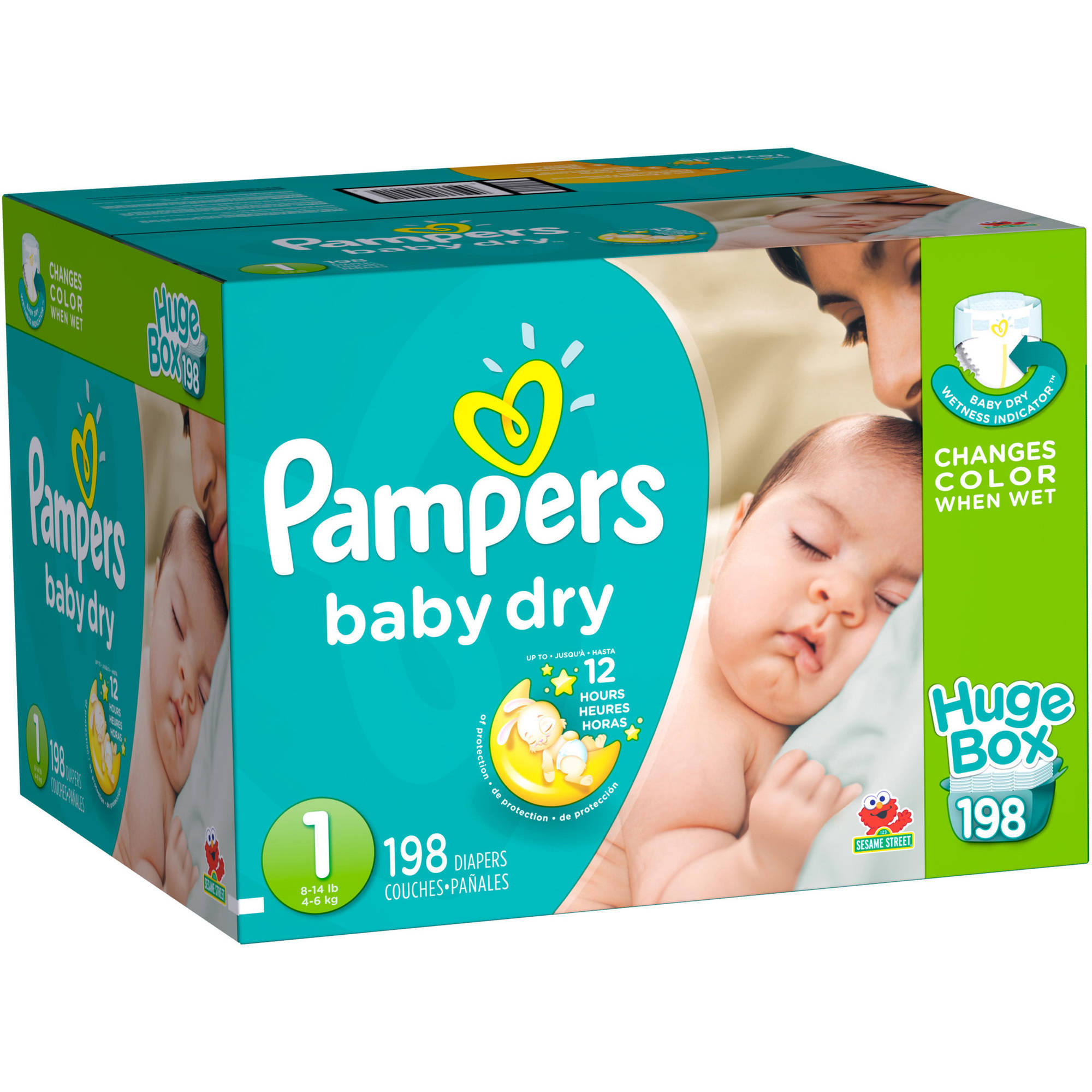 Pampers Baby Dry Diapers, Huge Box, (Choose Your Size)