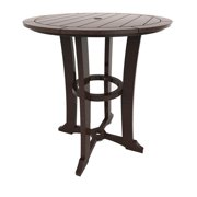 Round Bar Table by Malibu Outdoor - Laguna, Dark Brown - 36''