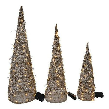 - August Grove 3 Piece LED Tree Set