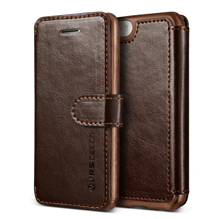 iPhone SE Case Cover   Premium PU Leather Wallet with Card Slots   VRS Design Layered Dandy for Apple iPhone