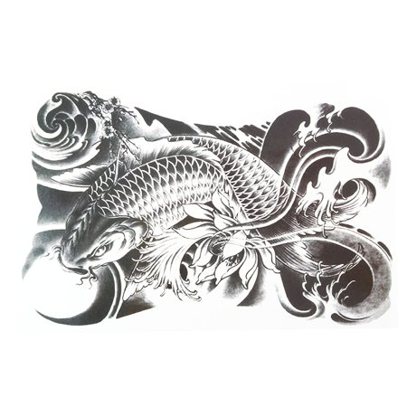 Body Art Fish Pattern Removable Adhesive Decor Paper Sticker Temporary - Fish Tatoos