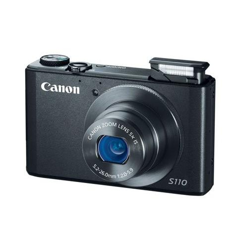 "Canon PowerShot S110 Digital Camera- Black -  12MP, 5X, WiFi, 1080P, 3"" TP"