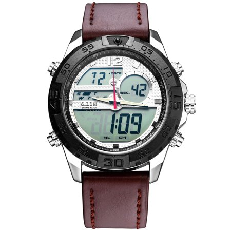Mens Quartz Watch Black Case Leather Belt Time Analog Display Fashion Mens Choice Best for Gift