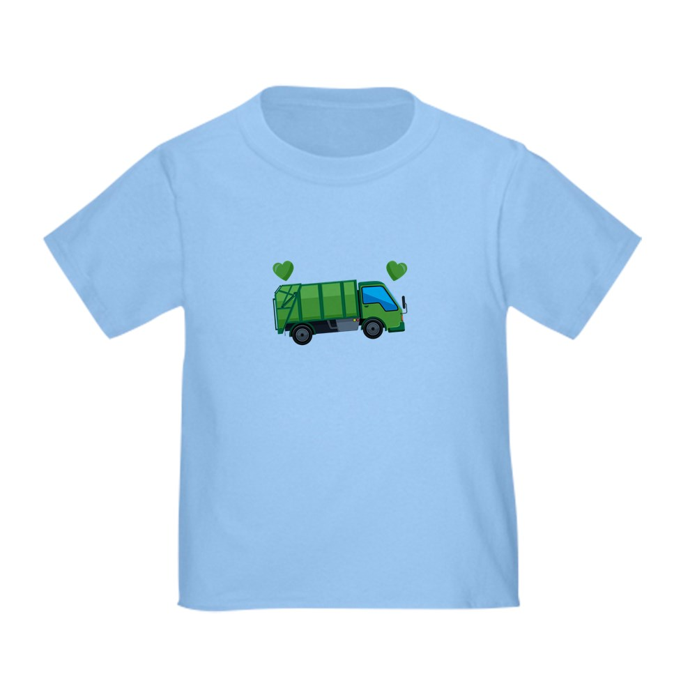 Custom Toddler T-Shirt I Love Garbage Trucks Cotton Boy /& Girl Clothes