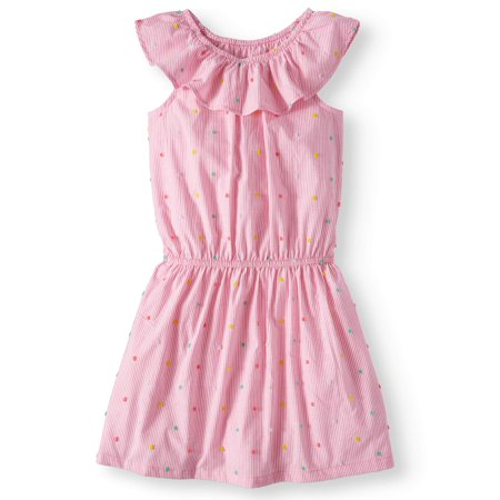 Casual Ruffle Chambray Dress (Little Girls & Big Girls, Plus) - Plum Dresses For Girls