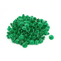 Unique Bargains 92pcs Green Plastic Door Fender Bumper Push Rivets Screw Clip for Auto Car Truck
