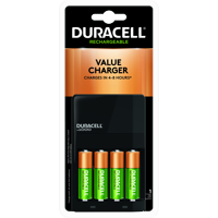 Duracell ION SPEED 1000 Rechargeable Battery Charger for AA and AAA Includes 4 AA NiMH Batteries