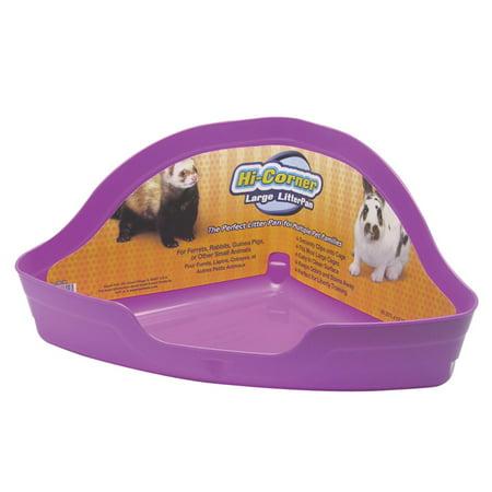 Super Pet Hi Corner Litter Pan For Small Animals Ferret Corner Litter Pan