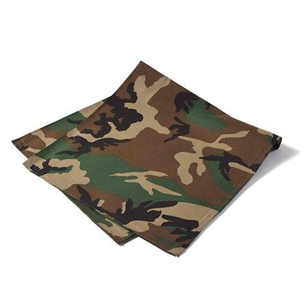 Bandana Wholesale (Daily Basic Camouflage Bandana 100% Cotton - 22 inches - Bulk Wholesale)