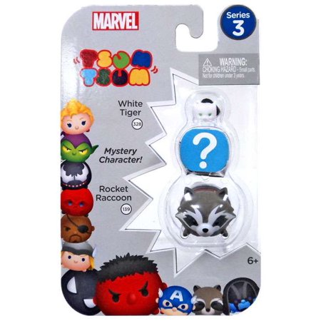 Marvel Tsum Tsum Series 3 White Tiger & Rocket Raccoon Minifigure (A Year In The Life Mini Series)