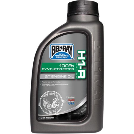 Bel-Ray 99280-B1LW H1-R Racing 100% Synthetic Ester 2T Engine Oil - 1L. 100 Viscosity Ester Oil
