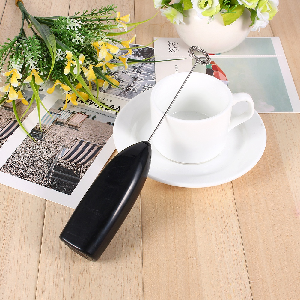 VBESTLIFE 4 Colors Fashionable Hot Drinks Milk Coffee Frother Eggbeater Foamer Electric Mixer Stirrer,Mixer,Stirrer
