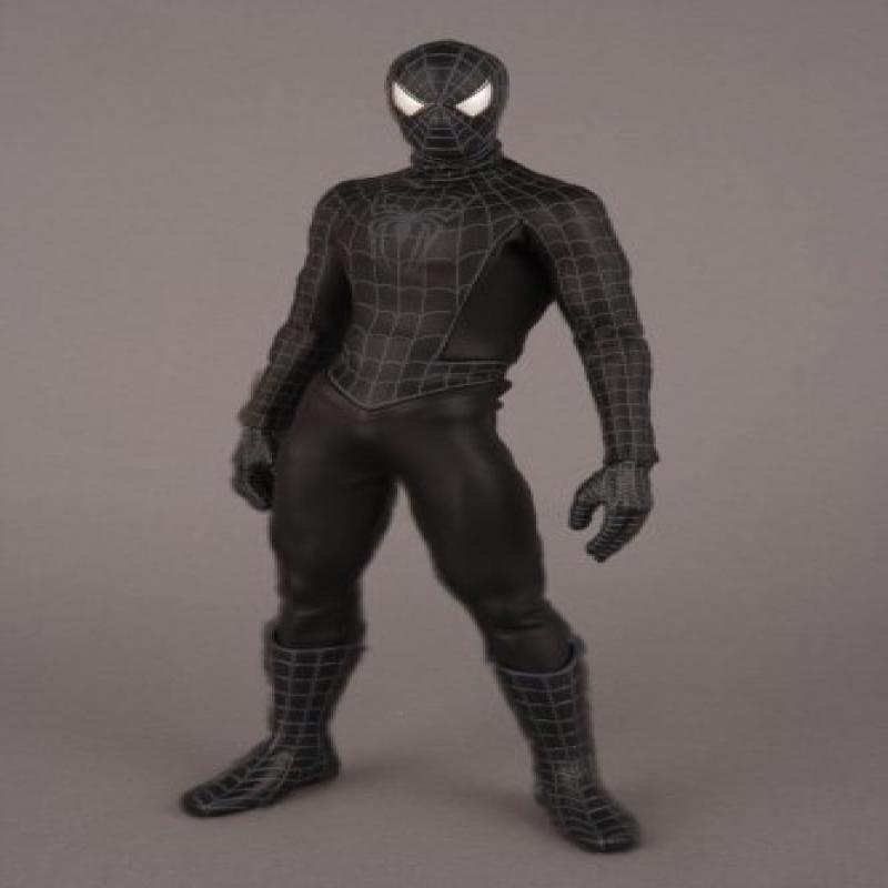 Spider-Man 3 Sideshow Medicom Real Action Hero Movie 12 Inch Figure Black Costume Spider-Man by