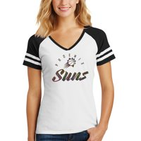 Phoenix Suns Women's Holographic V-Neck Jersey T-Shirt - White