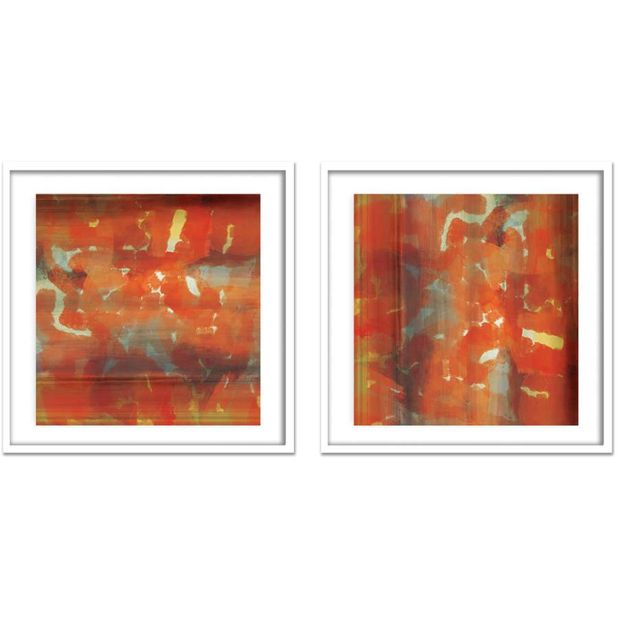 "Rain Wall Art, 21.375"" x 21.375"", Set of 2"
