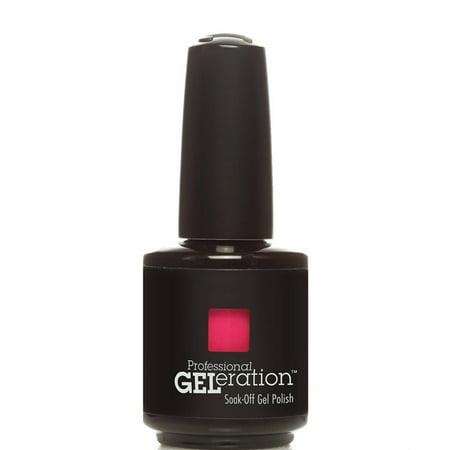 - Jessica GELeration Soak-Off Gel Polish 0.5oz/ 15ml (GEL-128 RASPBERRY)