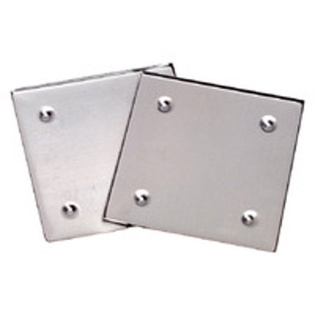 Diamond Tech Metal Mosaic Tile Raised Edge Square Coaster Base, 5-1/2 X 5-1/2 in, Silver