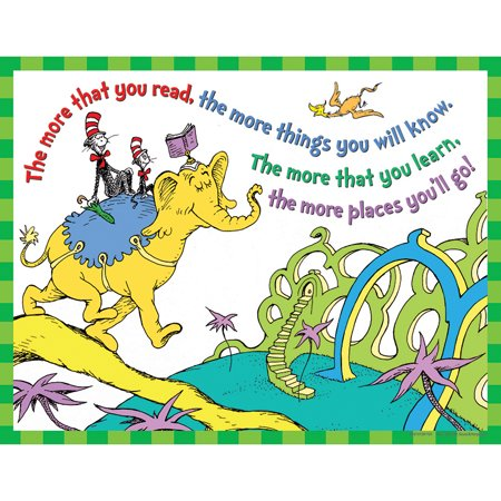 DR SEUSS THE MORE YOU READ 17 X 22  POSTERS](Dr Seuss Poster)