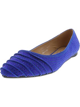 42576880814fde Product Image Penny Loves Kenny Women s Aaron Jl Royal Blue Jeweled Lycra  Fabric Flat Shoe - 7M