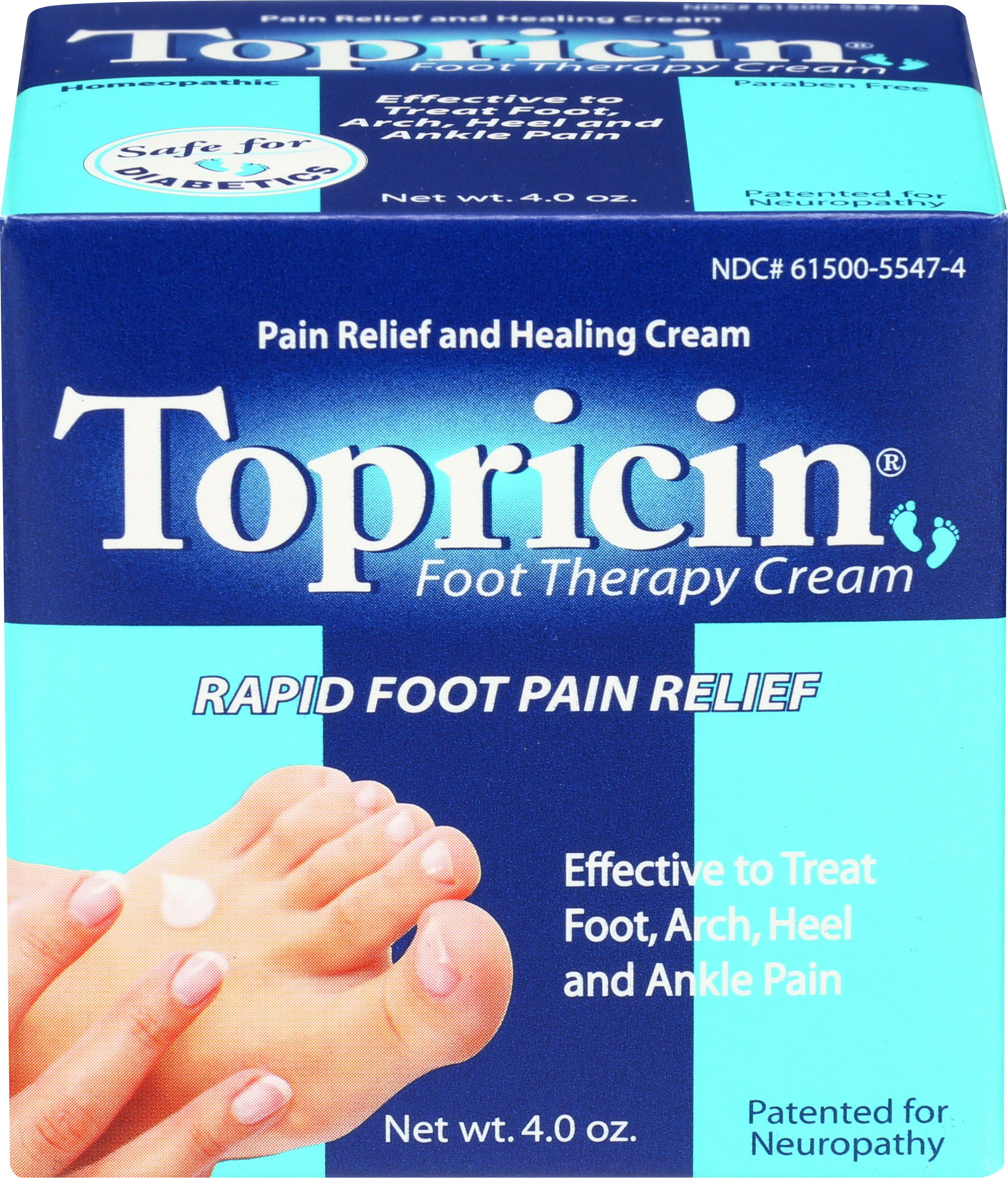 Topricin Foot Pain Relief Cream 4oz Walmart Com Walmart Com