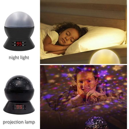 Star Sky Night Light, Rotating Cosmos Star Projector Lamp with LED Timer Auto-Shut Off, Color Changing, USB Cable Plug for Baby Kids Nursery Bedroom Living Room - image 7 of 8