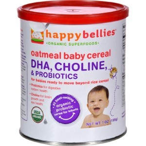 Happy Baby Probiotic Cereal, Organic Baby Food, Oatmeal, 7 Oz