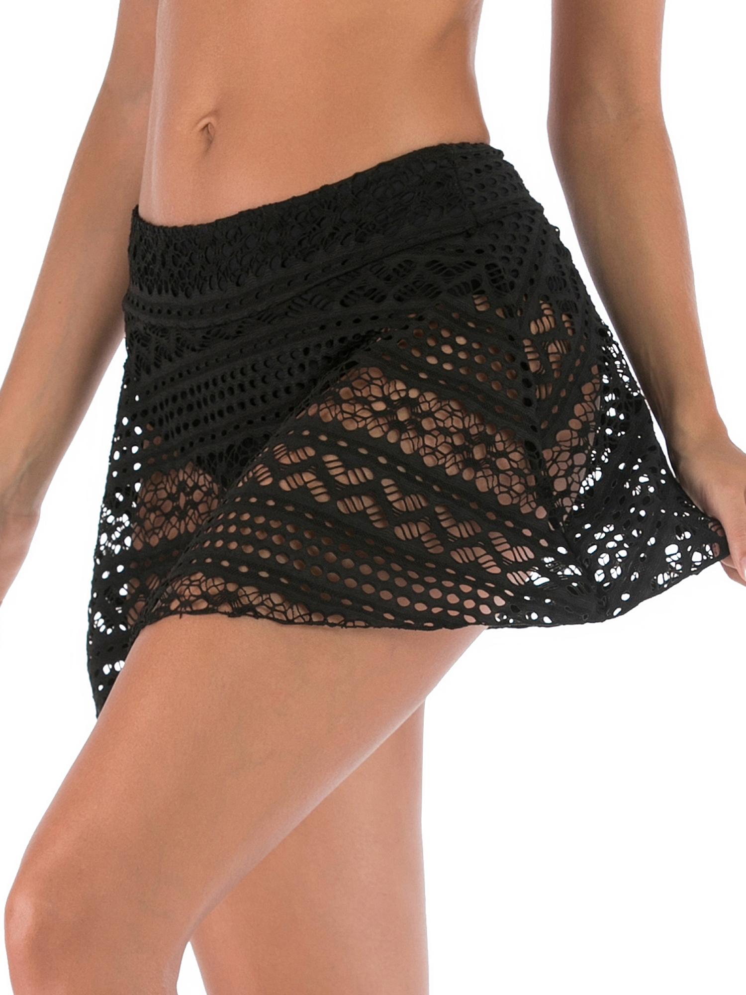 49e9a732e5 2019 New Women High Waist Swim Skirts+Briefs S-XXL Plus Size Bikini Bottom  Tankini Shorts Lace Pants Swimsuit Sexy Swimwear Swimming Bathing Suit Beach