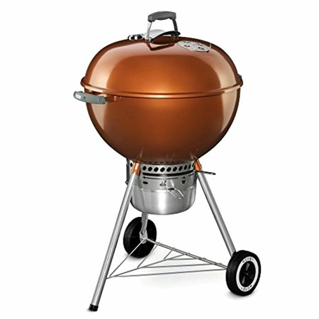 Weber Original Kettle Premium Charcoal BBQ Grill, 22-Inch, Copper Rust Resistant (Weber Copper Grill)