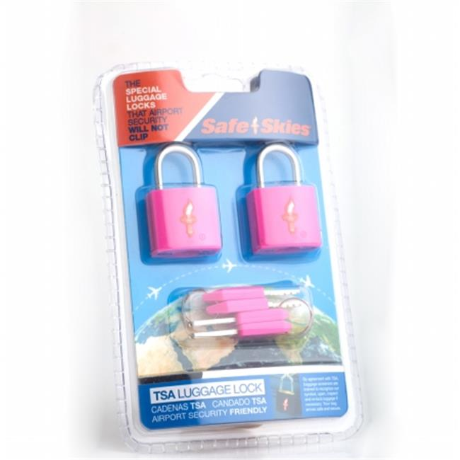 Safe Skies No. 200a TSA-Approved padlocks double-set - Pink Lemonade