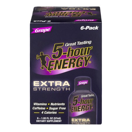 5 Hour Energy Extra Strength Energy Shot  Grape  1 93  6 Count