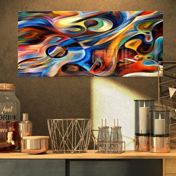 DESIGN ART Designart 'Abstract Music and Rhythm' Abstract ...