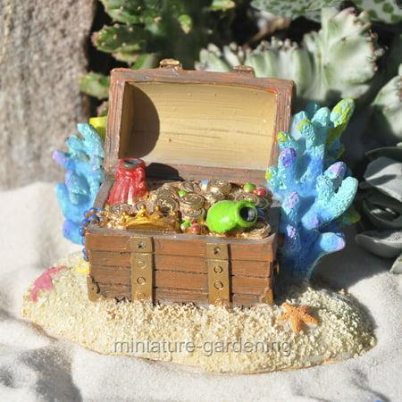 Studio-M Miniature Fairy Garden Mermaid Treasure Chest