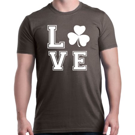Shop4Ever Men's Love Shamrock Lucky St. Patrick's Day Graphic T-shirt - Lucky Shamrock