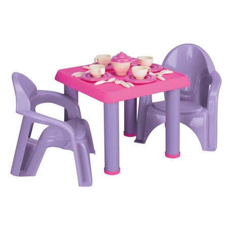 American Plastic Toys - Tea Party Set, 28-Pieces (Girls Tea Party)