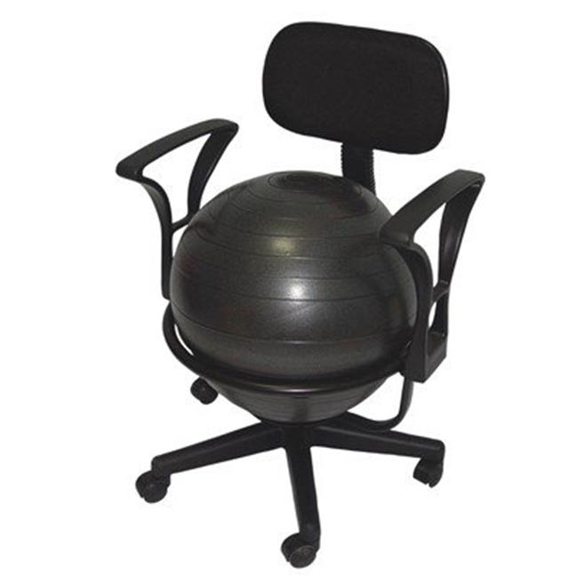Fabrication Enterprises 30-1791 Cando Metal Mobile Ball Stabilizer Chair with Arms