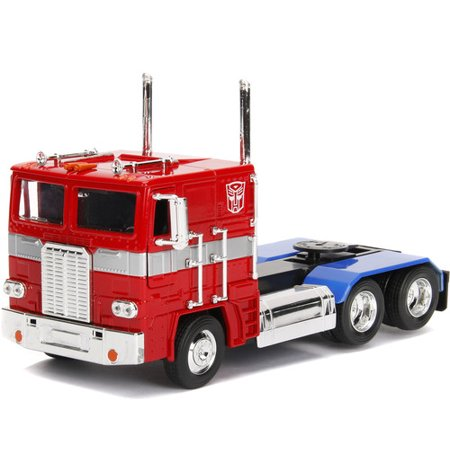 Optimus Prime Vehicle - Transformers G1 Optimus Prime Truck with Robot on Chassis Die-cast Car