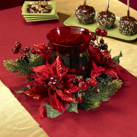 Nearly Natural Poinsettia & Berry (Poinsettia Stock)