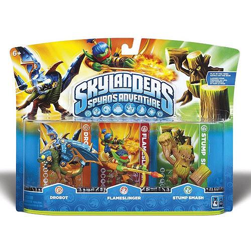 Skylanders Character Pack 3 Pack A - Drobot / Flameslinger / Stump Smash (Series 1) (Universal)