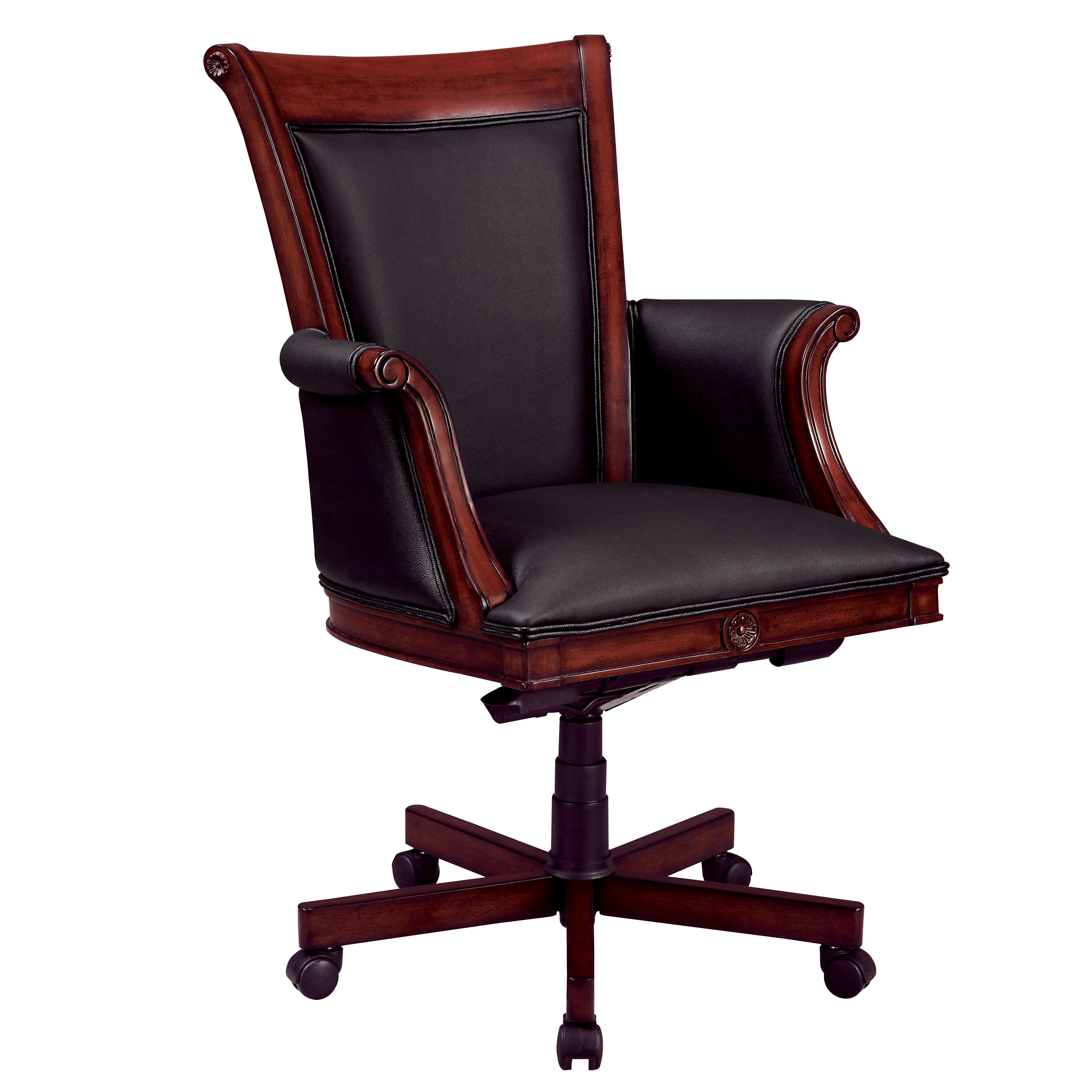Dmi Office Furniture Executive High Back Chair with Sedona Cherry Wood/Upholstered Arms