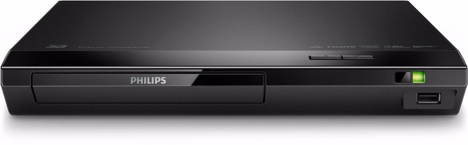 PHILIPS BDP-2385 3D Blu-ray & DVD with Built-in Wi-Fi & Remote(Refurbished) by Philips