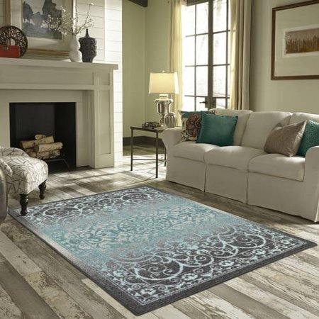 Mainstays india area rug or runner collection - Living room area rugs ...