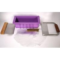 Areej Loaf Mold & Cutters & Pkg Soap Making Kit, Lavender