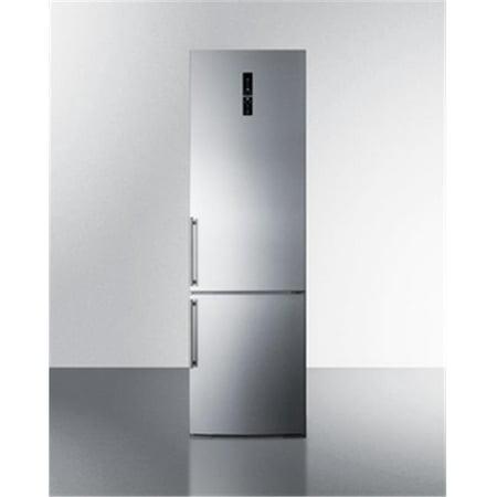 Cabinet Depth Bottom Freezer Refrigerator (Summit Appliance FFBF181ESBI 24 in. Counter Depth Bottom Freezer Refrigerator, Platinum )