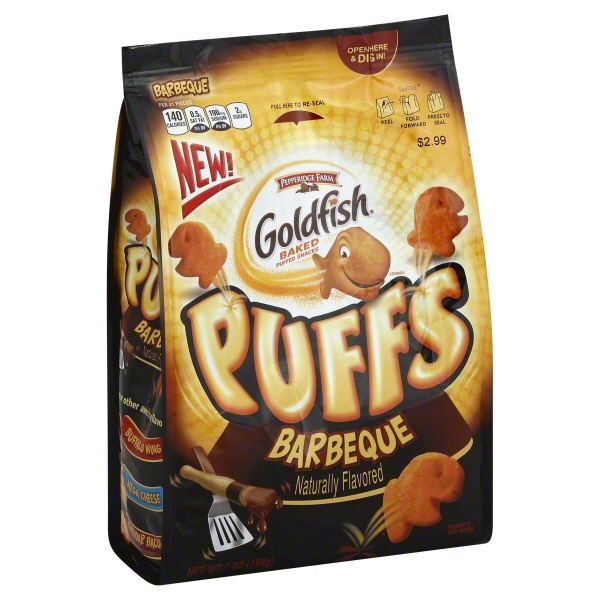 Campbell Soup Goldfish Puffs Baked Puffed Snacks, 7 oz