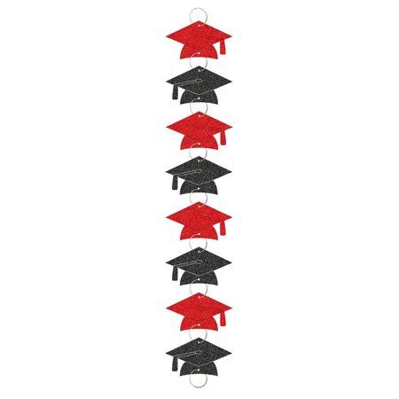 Red Grad 9ft. Ring Garland Decorations (Each)- Graduation Party - Graduation Garland
