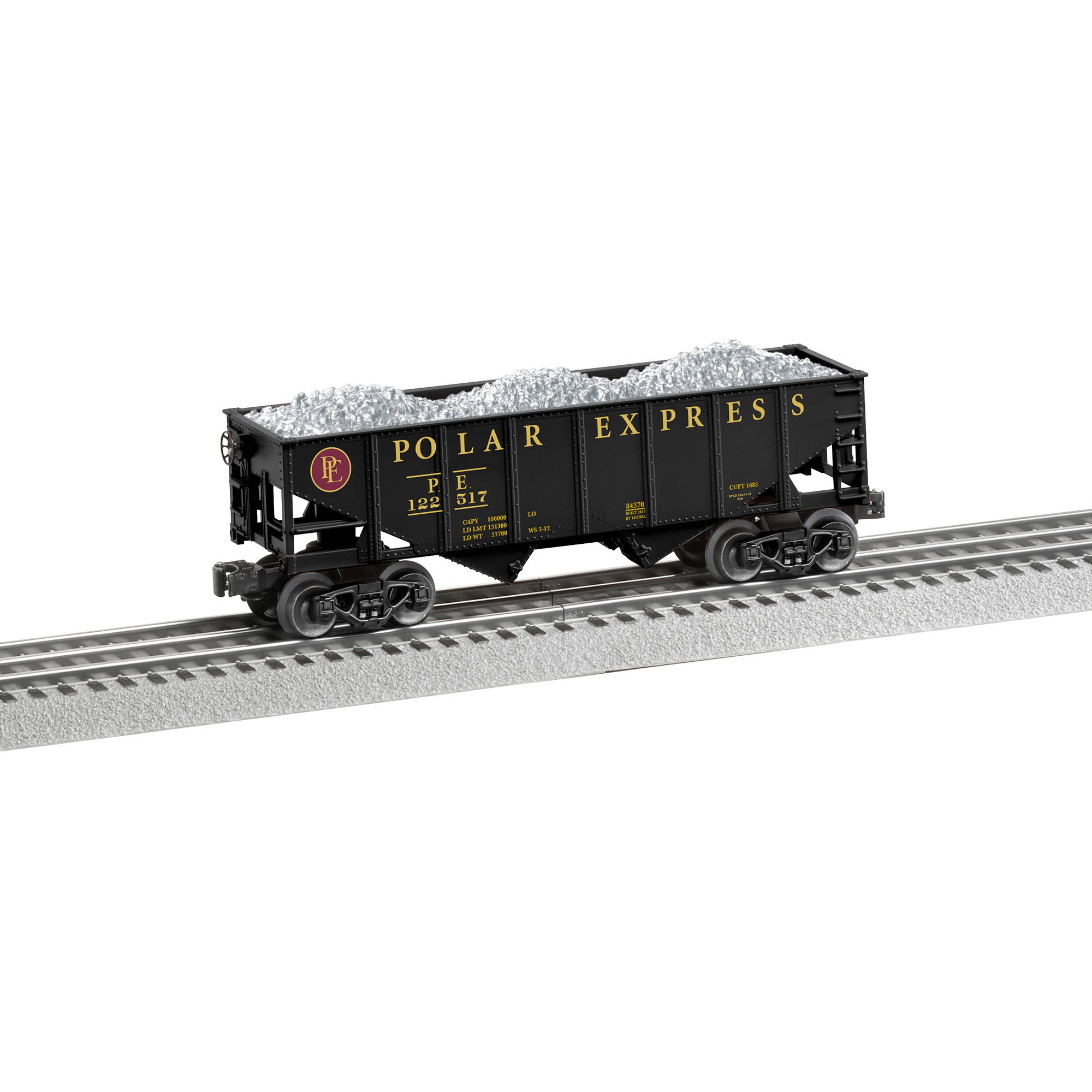 Lionel Trains Polar Express Silver Load Hopper