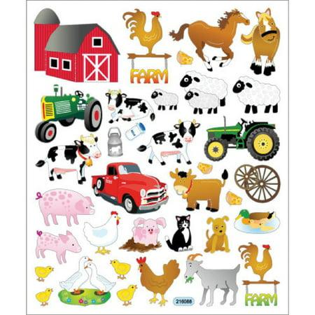Multicolored Stickers-The - Farm Tattoos