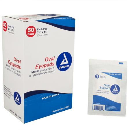Sterile Oval Eye Pad - Dynarex Sterile Oval Eye Pads 1 5/8